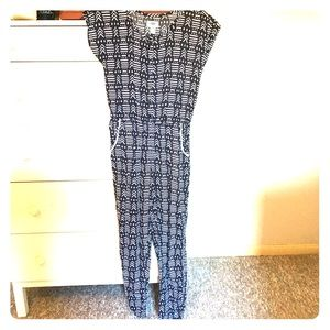 🖤 OLD NAVY black and white jumpsuit/romper pants